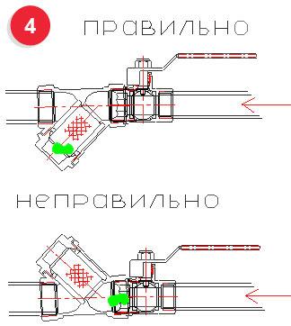 Схема фильтра сетчатого