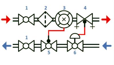 Схема общедомового узла учета тепловой энергии 40