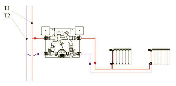 Схема подключения отопительных